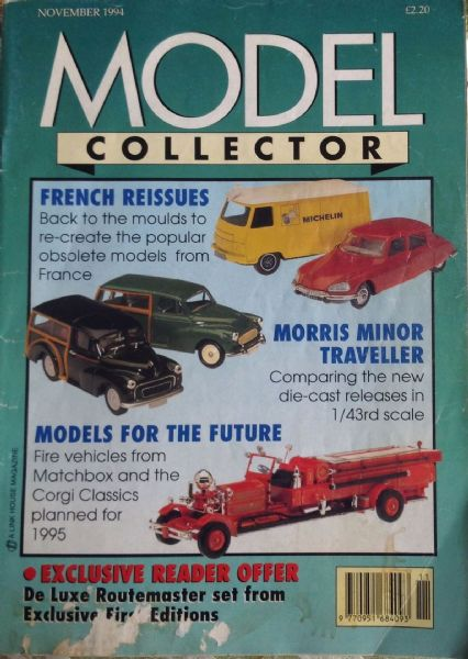 ORIGINAL MODEL COLLECTOR MAGAZINE November 1994